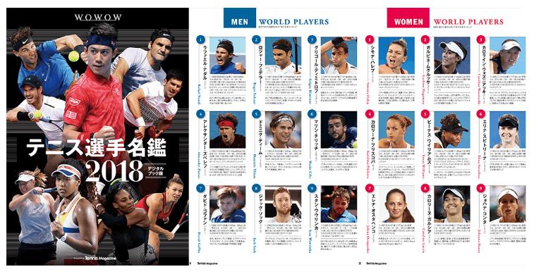 2018テニス選手名鑑
